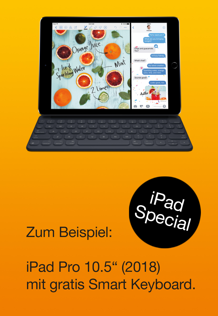 iPad Special - Apple Smart Keyboard günstig/gratis mit Air & Pro 10.5