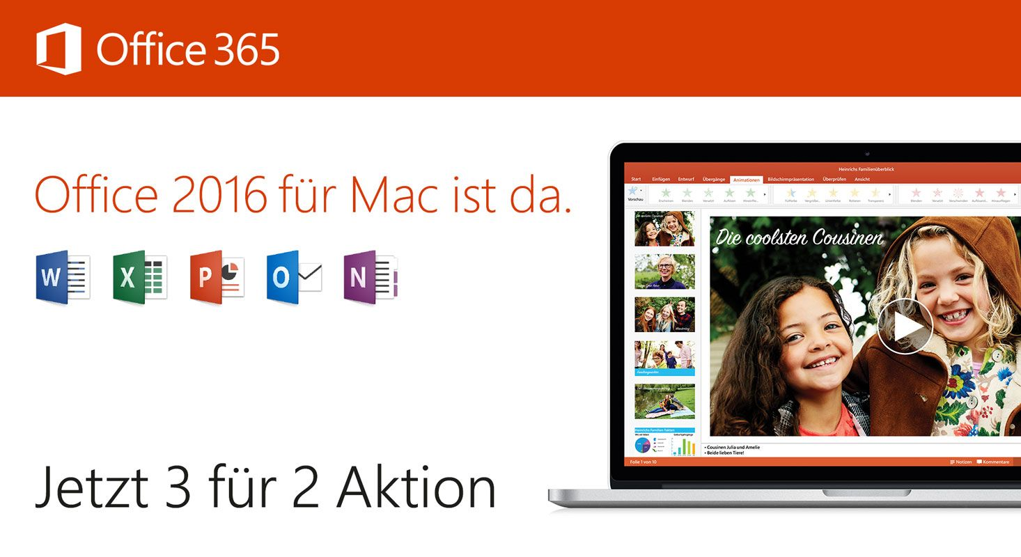 Office 365 3-für-2 Aktion