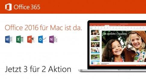Office 365 3-für-2 Aktion
