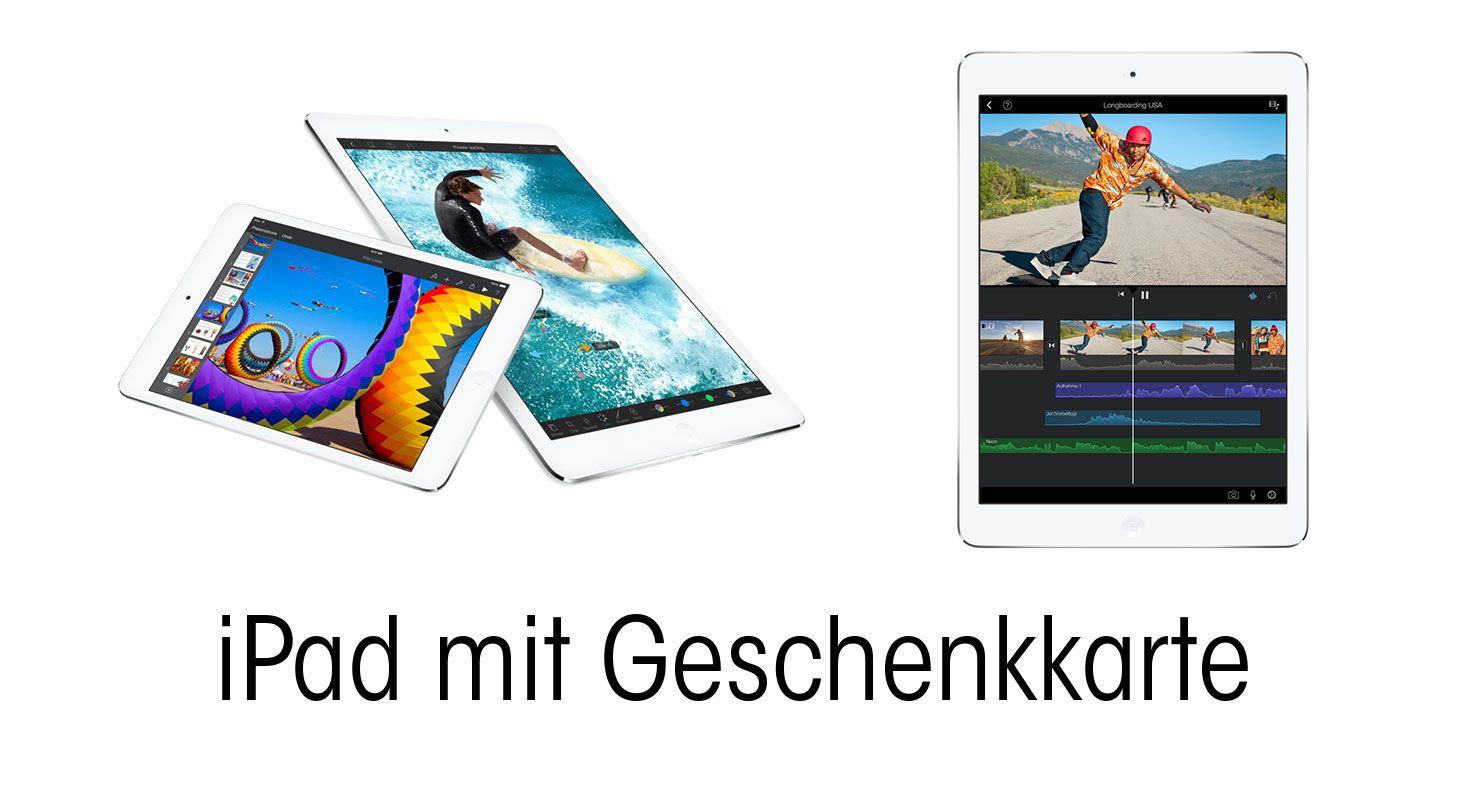 iPad mit CHF 50 DQ Geschenkkarte