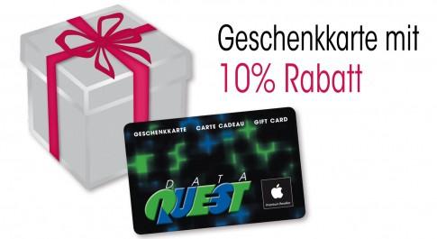 DQ Geschenkkarte mit 10% für Weihnachten