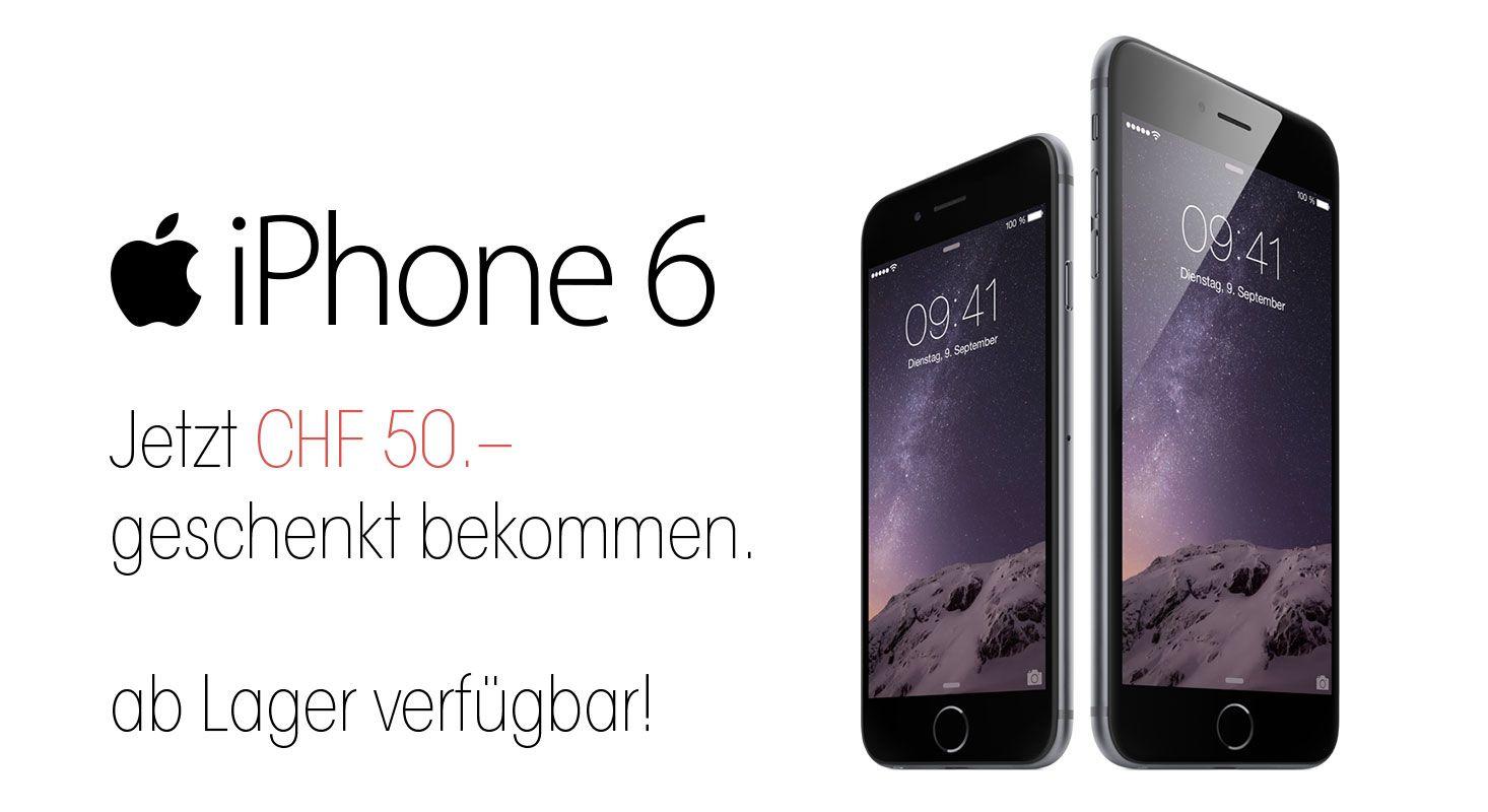 iPhone mit Abo/Zubehör und 50.– geschenkt