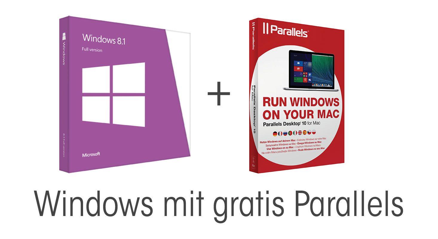 Windows 8.1 mit gratis Parallels