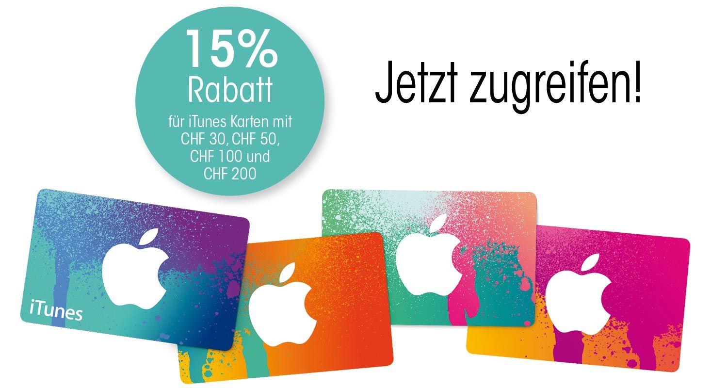 iTunes Karte mit 15% Rabatt