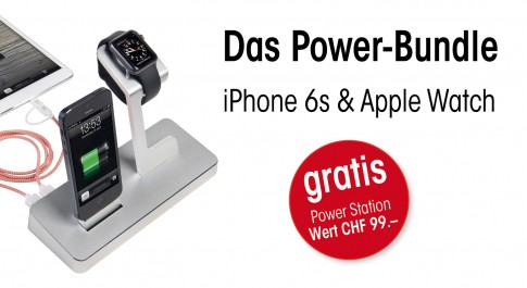 Power-Bundle: iPhone 6s & Apple Watch mit gratis Power Station