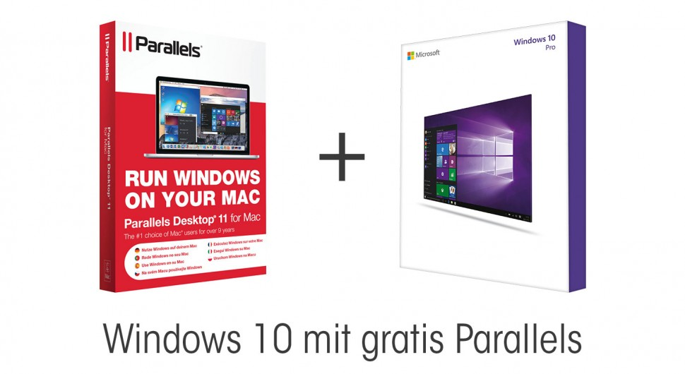 Windows 10 mit gratis Parallels 11 OEM