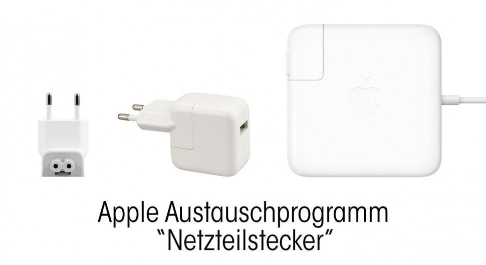 Austauschprogramm Apple Netzteilstecker