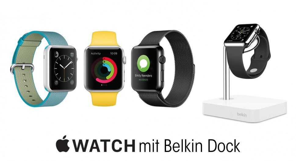 Apple Watch mit Belkin Dock