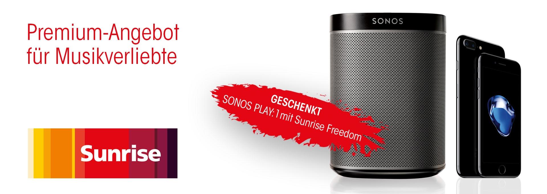 Sunrise mit gratis Sonos PLAY:1