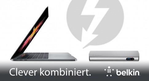 MacBook Pro mit Belkin Thunderbolt 3 Dock