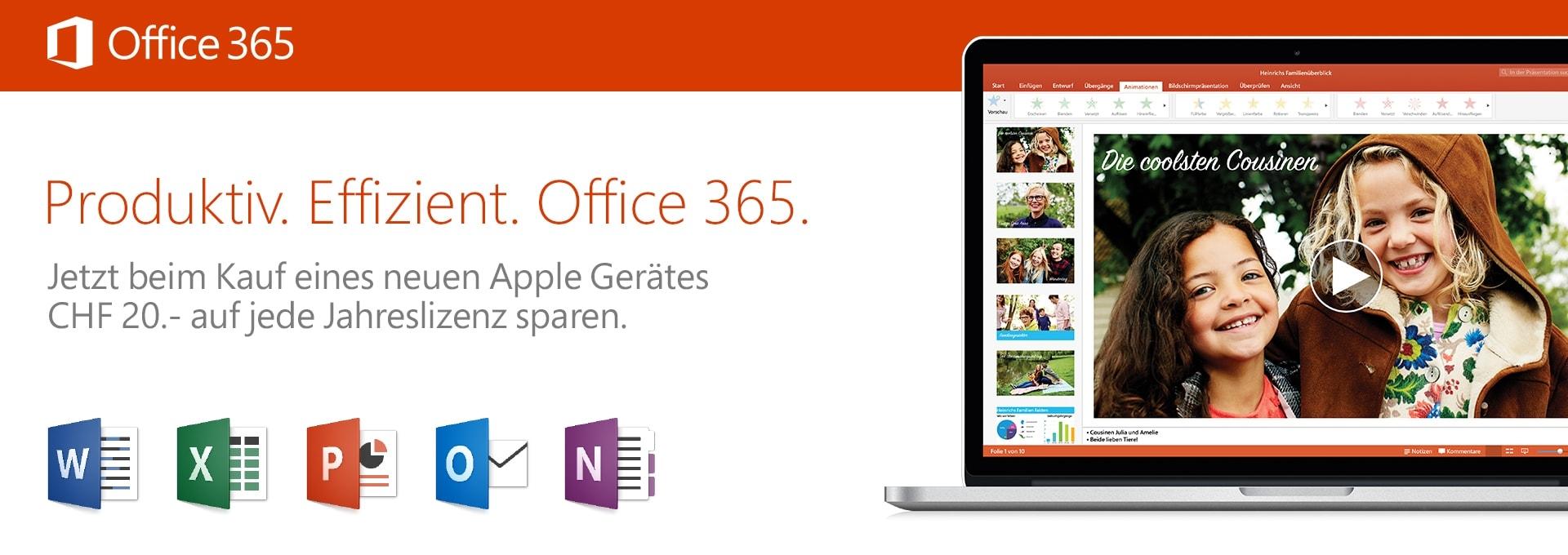Microsoft Office 2016 - CHF 20 Attach Promo